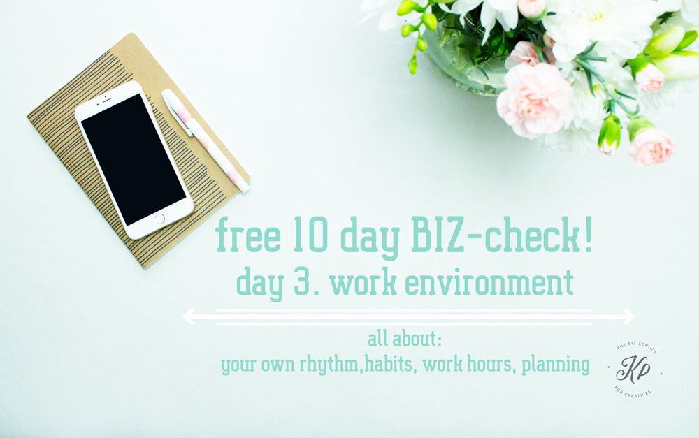 Free BIZ-check, work environment! Get to know the strenght and weaknesses of your creative BIZ. Do the free 10 part. BIZ-check and get to know everything you need about your Business. the BIZ-school for creatives blog. Read the full blog post at www.kerstinpressler.com