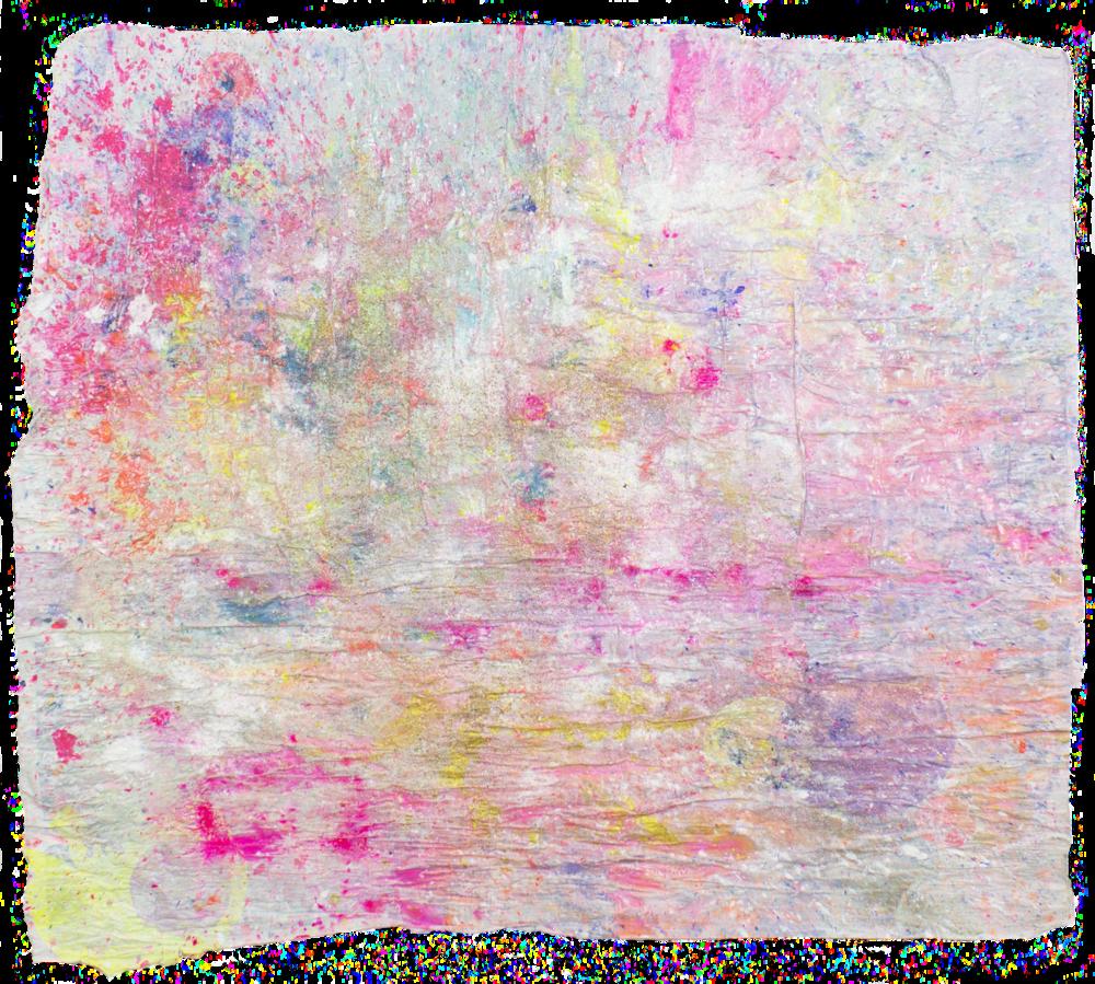'Lumiverse NO. 3', 90 x 104 cm, acrylic paint and silk paper on a handmade paper-base. Kerstin Pressler, www.kerstinpressler.com