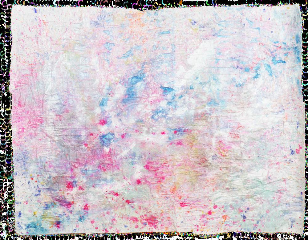 Sparkling skies NO. 1', 173 x 132 cm, acrylic paint on handmade paper-base, Kerstin Pressler, www.kerstinpressler.com