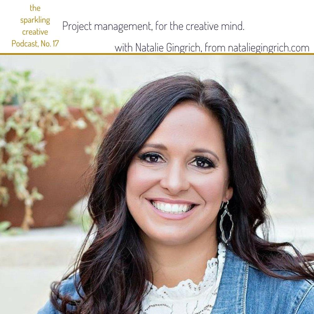 The sparkling creative Podcast, Episode 17, Project management for the creative mind. www.kerstinpressler.com/blog-2/episode17