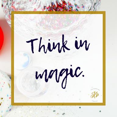 Think in magic. The sparkling creative. www.kerstinpressler.com