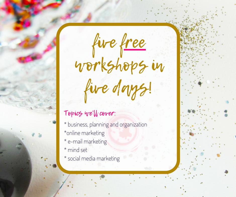 free sparkling creative workshop