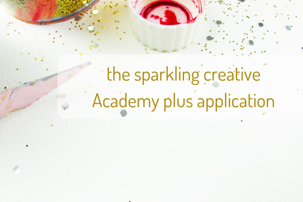 the sparkling creative Academy application, www.kerstinpressler.com/application