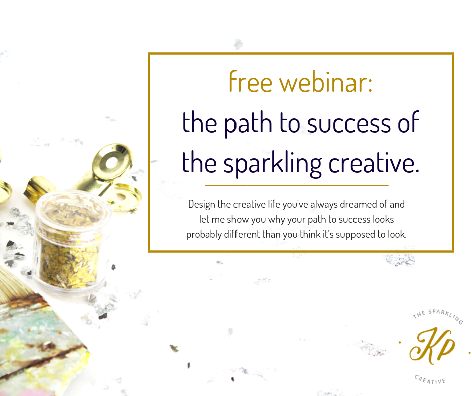 free webinar, the path to success of the sparkling creative. www.kerstinpressler.com/webinar