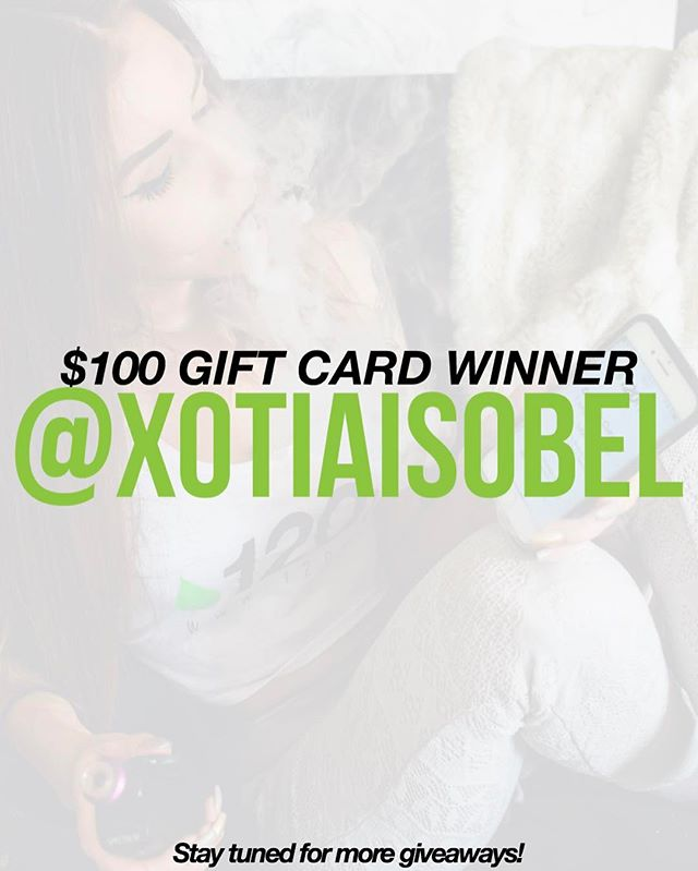 Congrats @xotiaisobel for winning our $100 Gift Card Giveaway - Supported by @___justpeachyy 🍑 - Please slide into our DMs for information! ••• 120ml.co // Carefully Curated Large Format E-Liquid | FREE SHIPPING ON ALL DOMESTIC ORDERS. 📦🇺🇸🇨🇦