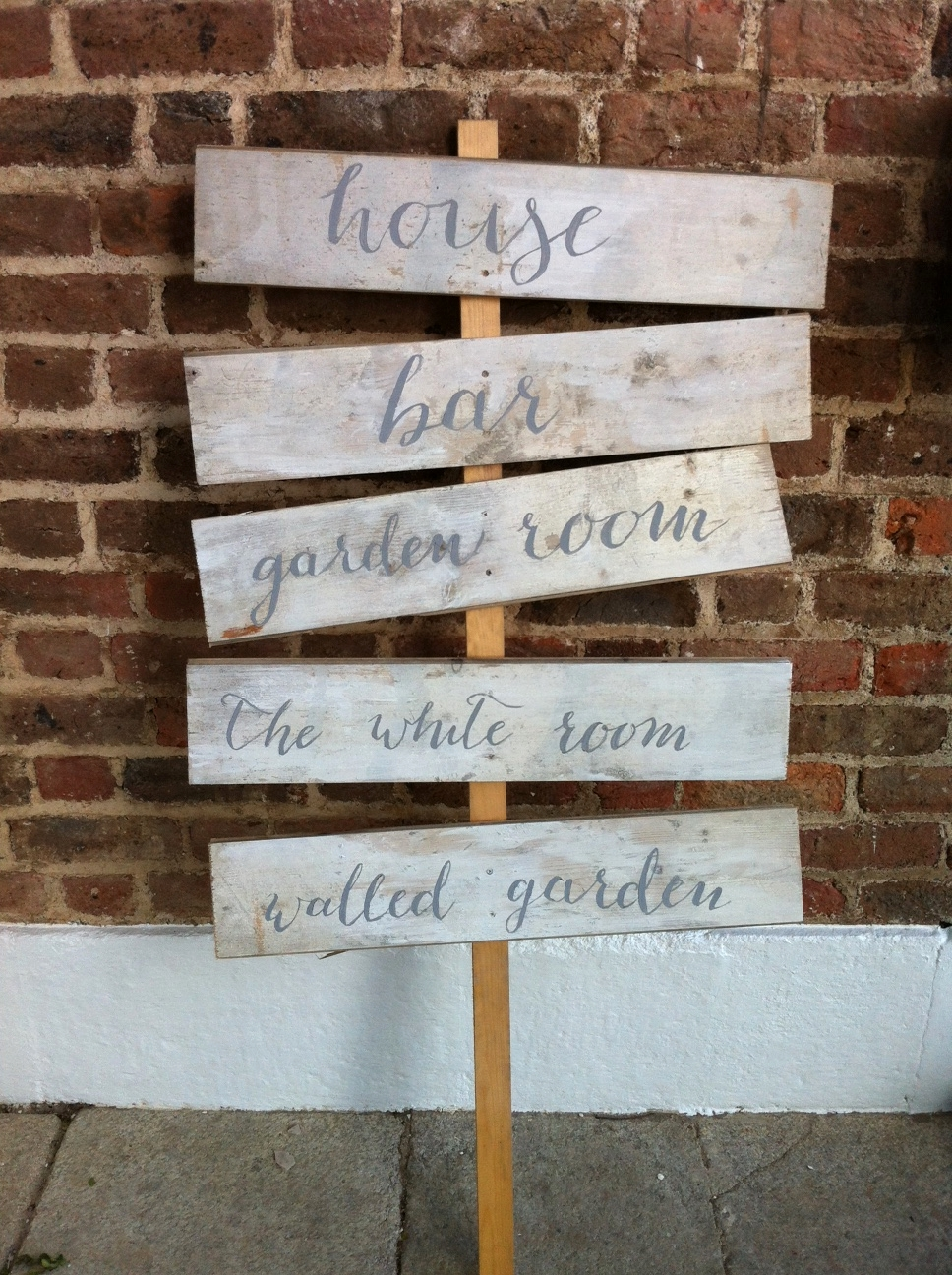 Horetown Wedding Signage