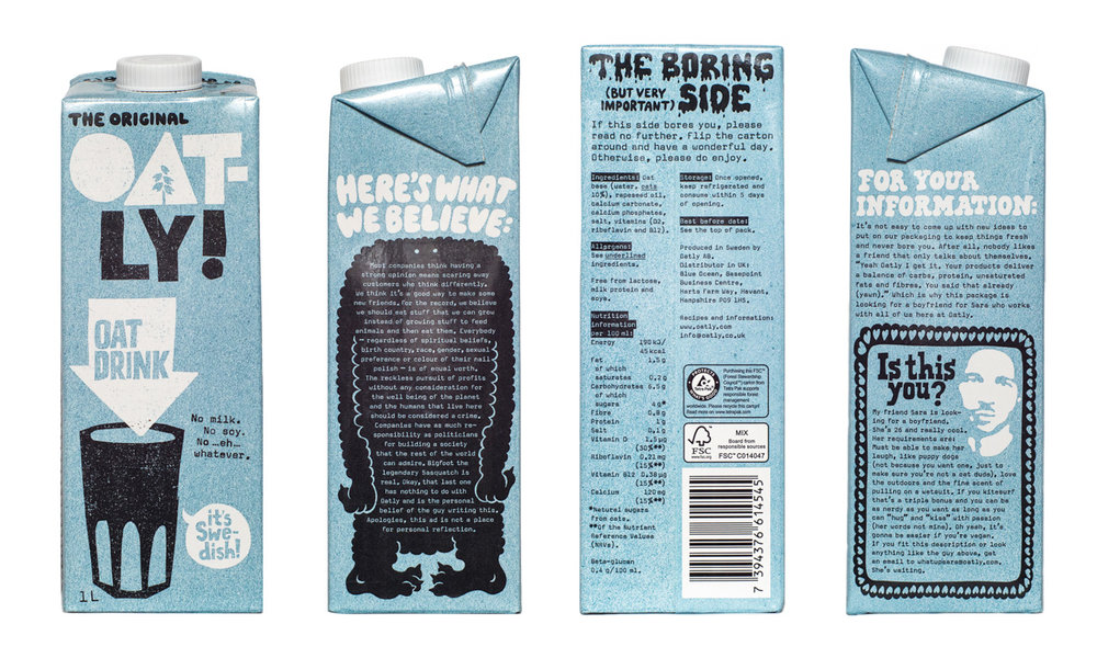 Oatly UK packaging 2016.
