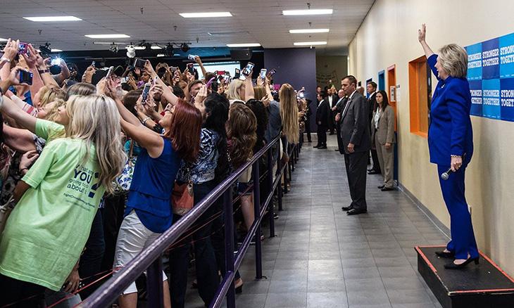 Photograph: Barbara Kinney/Hillary Clinton campaign
