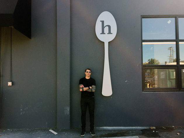Neil Grimmer outside Habit's new headquarters in Oakland.