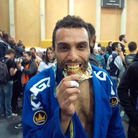 My best friend Aziz, 2015 BJJ European champion at purple belt level...Oss
