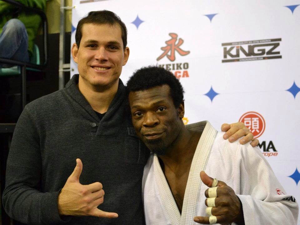 At Euro 2012, with the Legend Roger Gracie