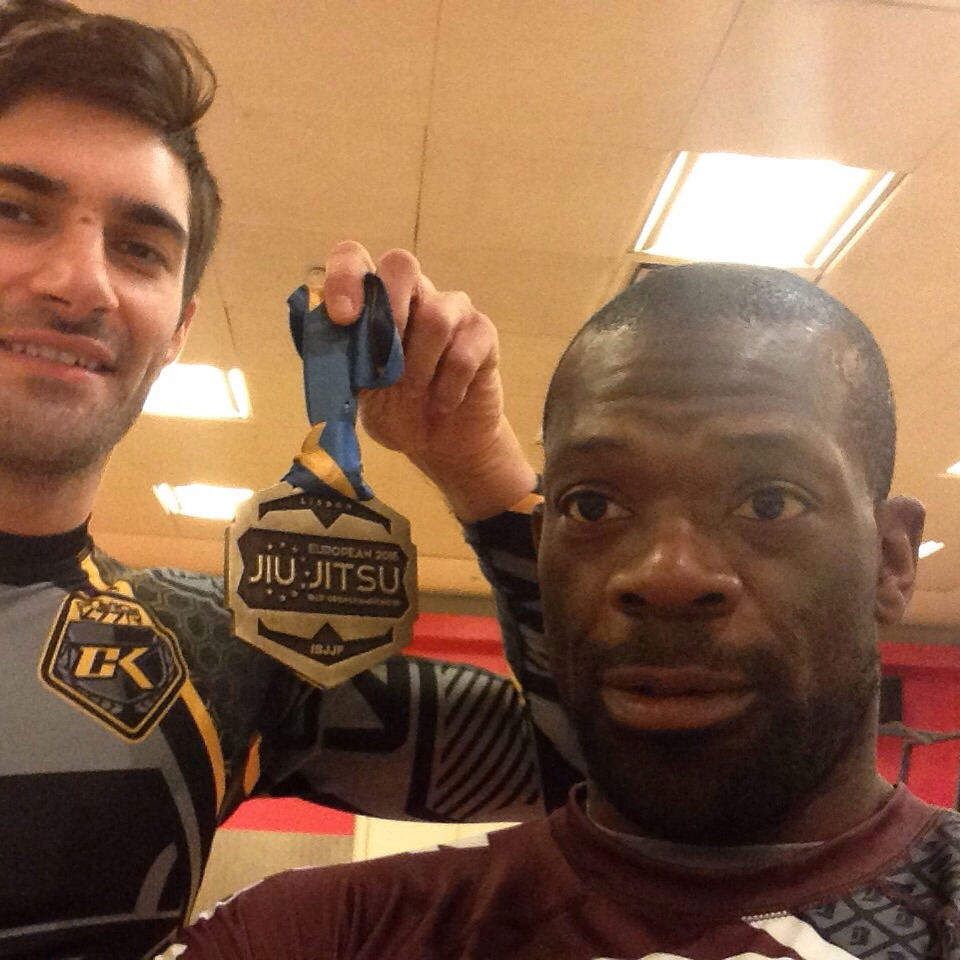 Luke and I, with OUR Bronze medal from the BJJ European Championship 2016. Our medal, as without Luke support, I would have come home empty handed!