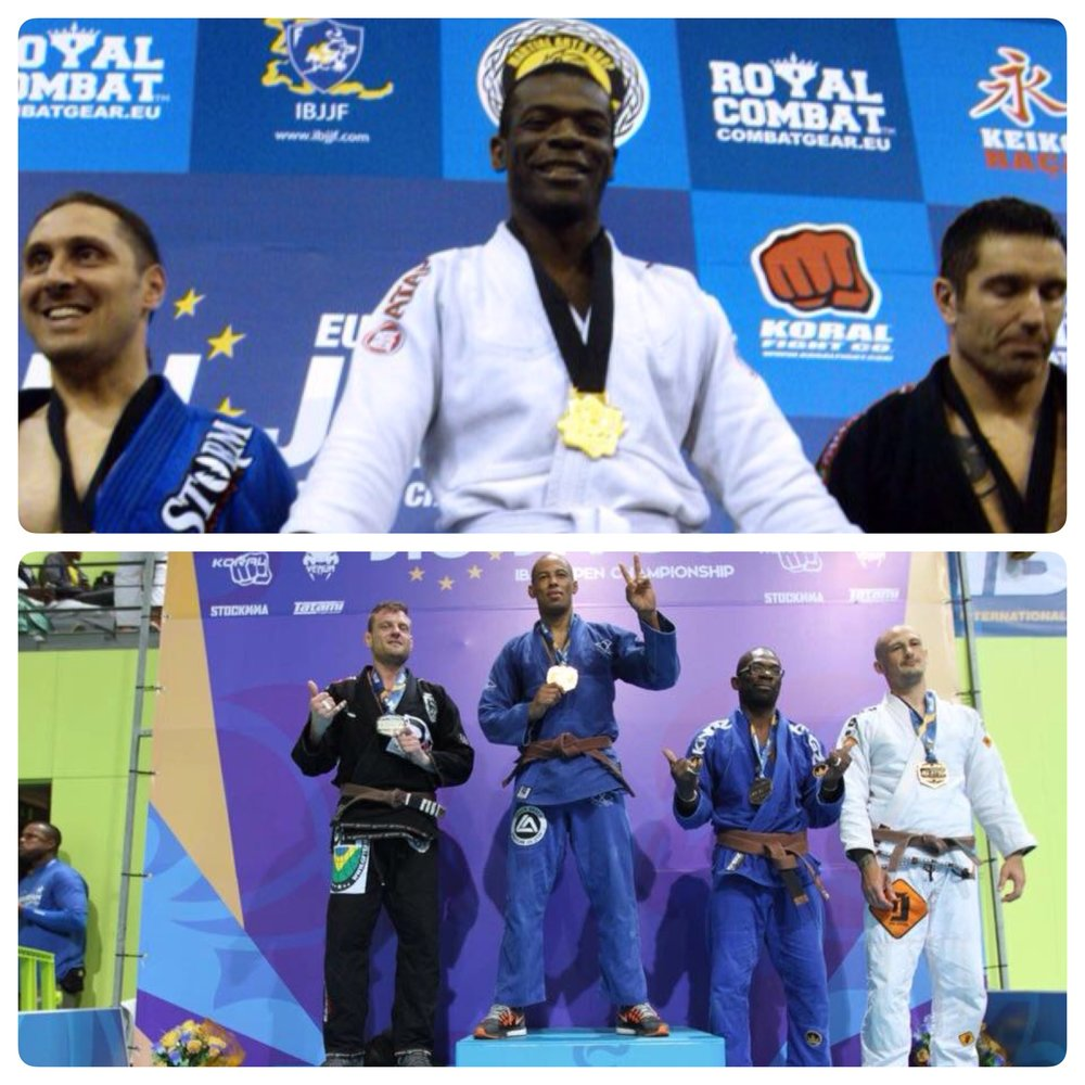 5 years separate the 2 pics, in 2011 as a Fresh White Belt I became BJJ European Champ and 5 years later as brown Belt, The Old Man with a dodgy Back won Bronze...the only difference between pics is my Age. The PASSION AND DESIRE ARE INTACT!
