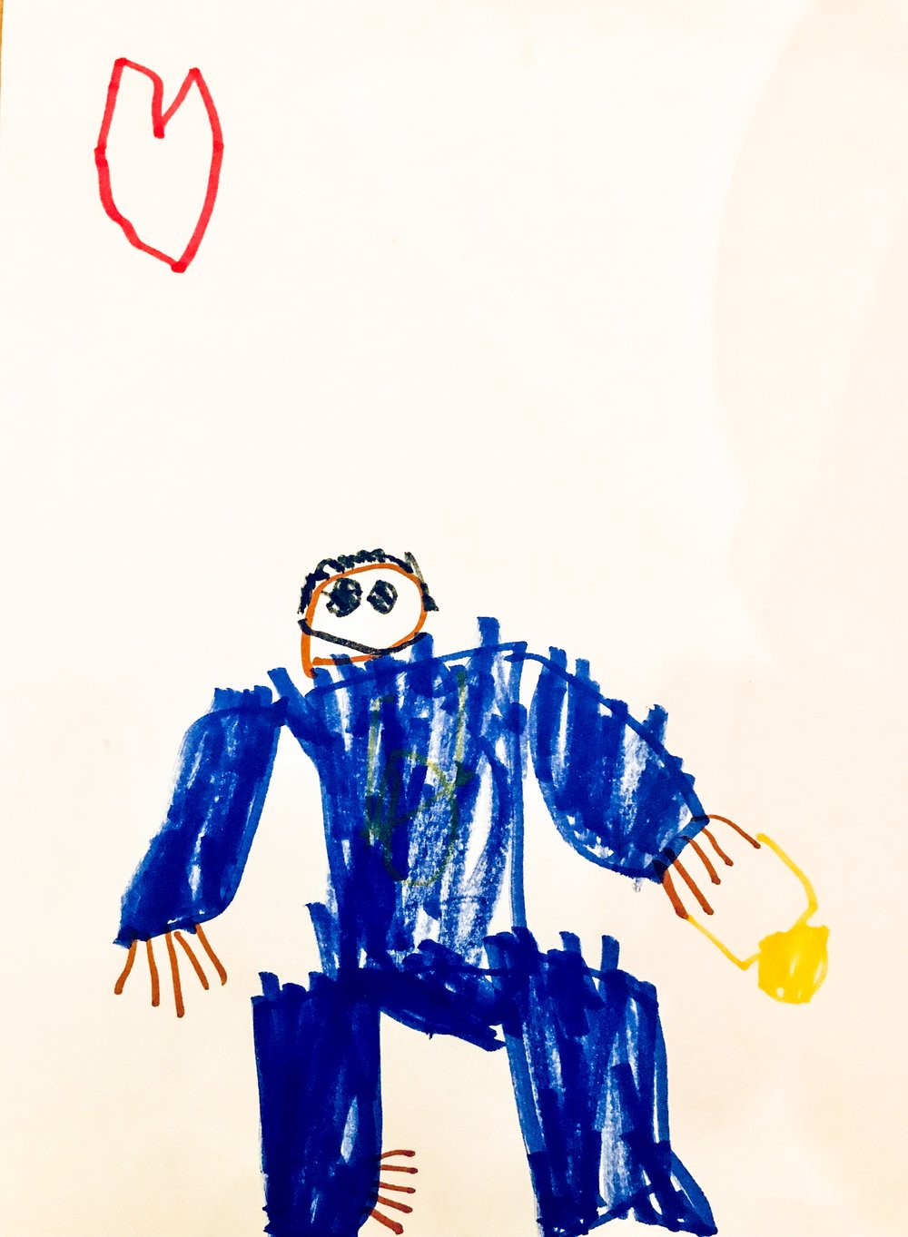 Me  with a gold Medal, courtesy of my son Milo. He drew this before the tournament I kept the drawing as my iPad wallpaper and could see it everyday and make sure I keep my promise if bringing the gold home.
