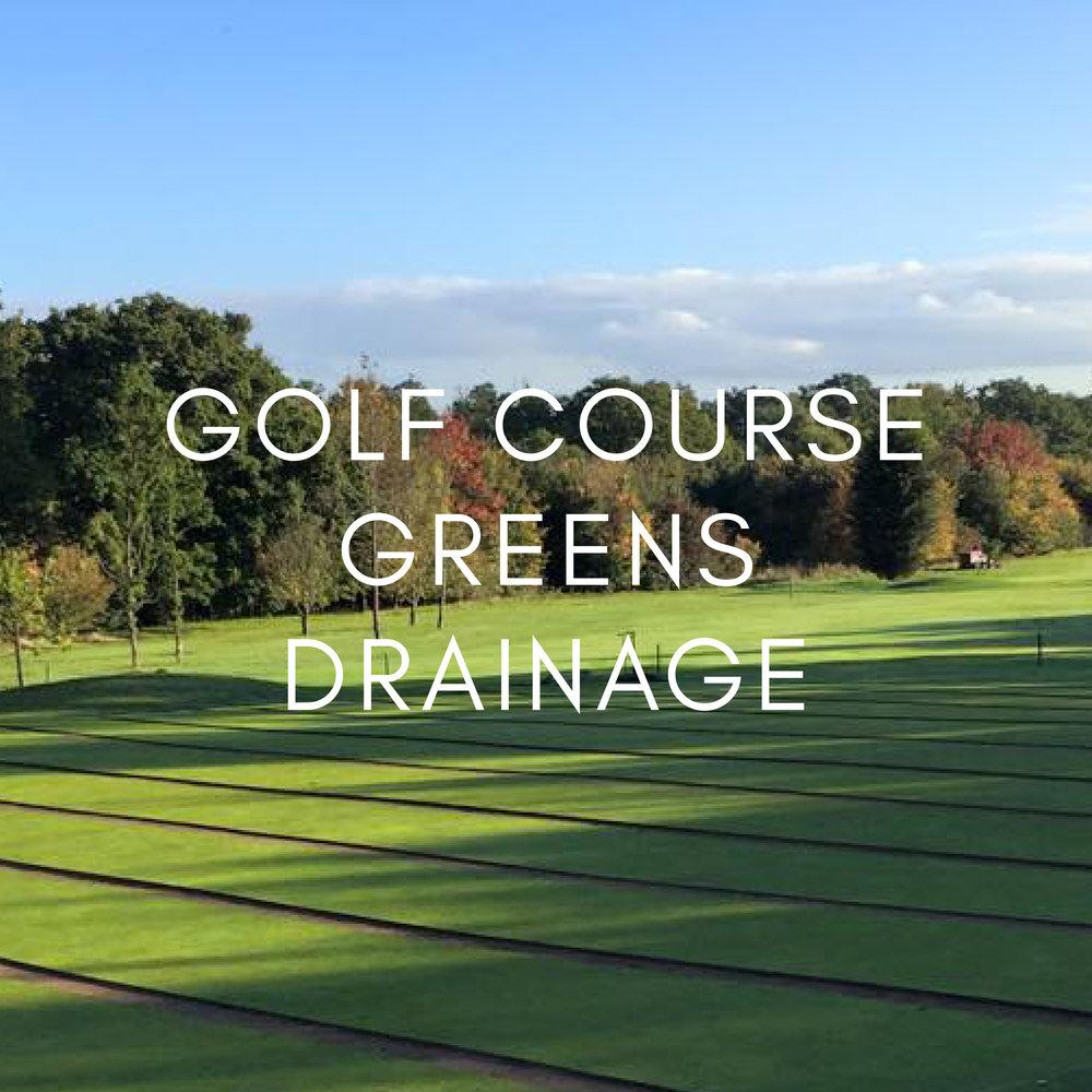 Portfolio - Golf Course Greens Drainage