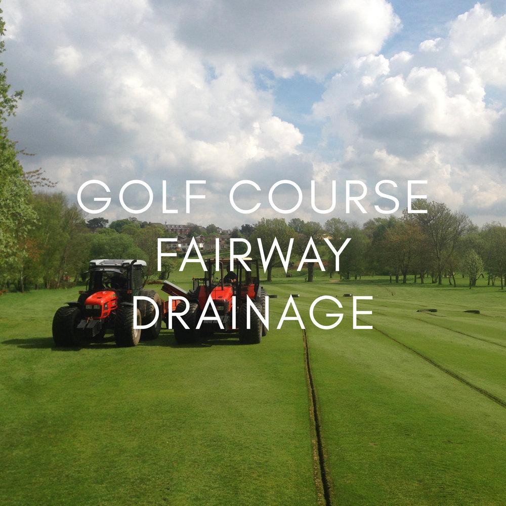 Portfolio - Golf Course Drainage Fairway Drainage