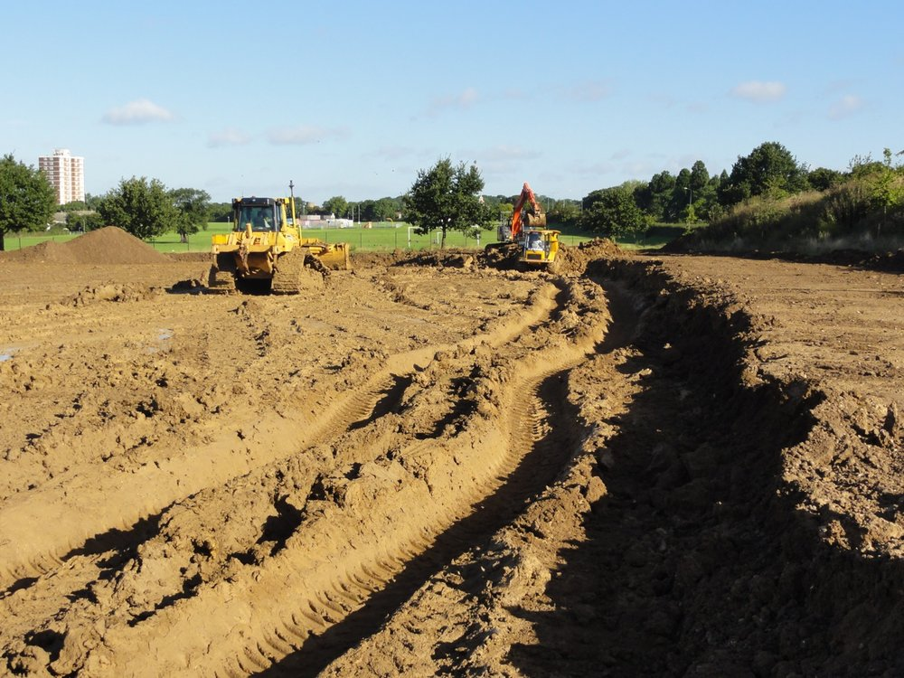 Extensive re-levelling works were required to mitigate the 'twisted' nature of the field.