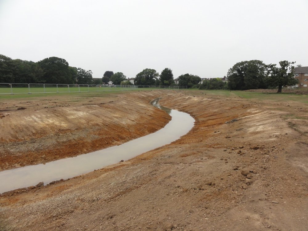 The watercourse takes shape