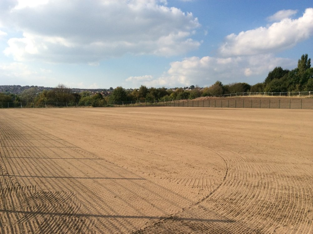 Youth pitch after seeding.