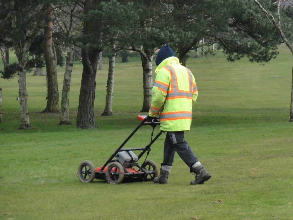 The Ground Penetrating Radar unit in action.