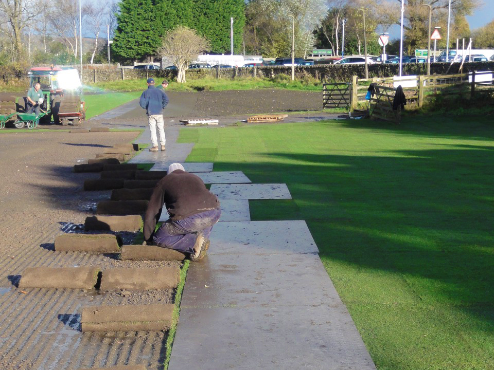 Turf was laid in preference to seeding as a consequence of the client's desired timeframe for the job.
