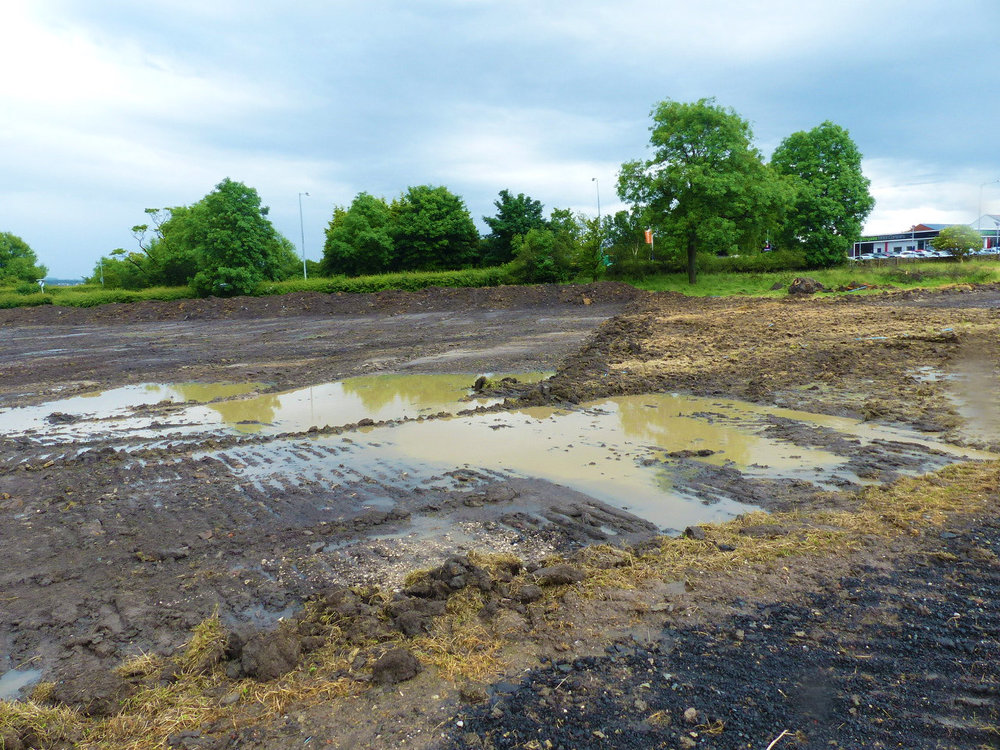 The site needed to be dewatered to facilitate the major works, with ditches needing to be filled in, dug, or re-routed.