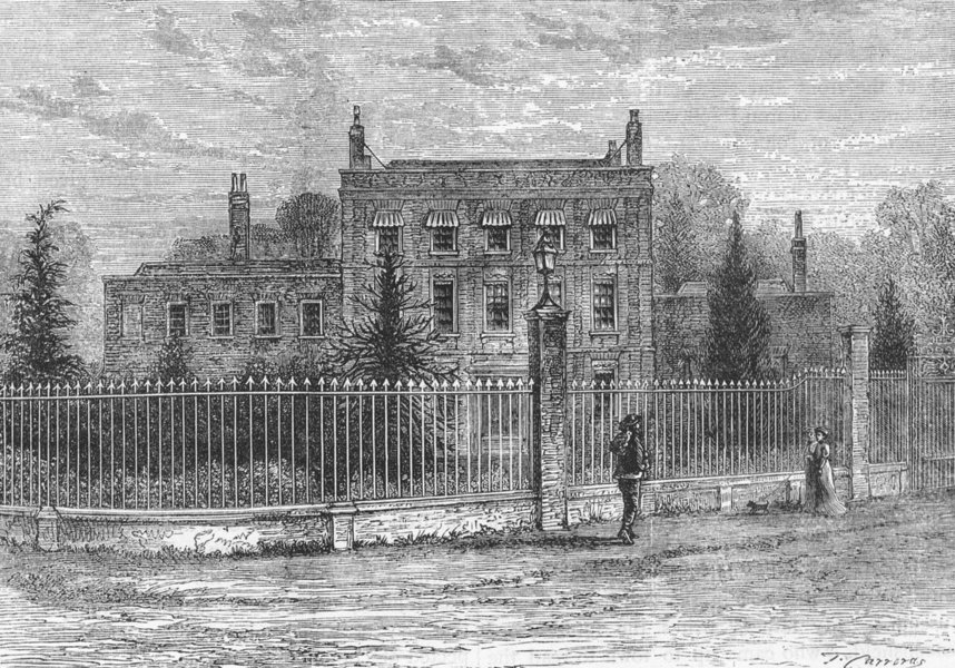 A drawing of Gough Park as it stood in the 1800s.