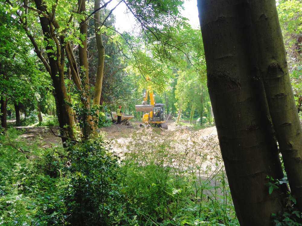 Turfdry have worked closely with Enfield Council's Tree Officer to ensure all possible care is given to the preservation of the natural environment, and are exercising extreme care on such a constricted site.