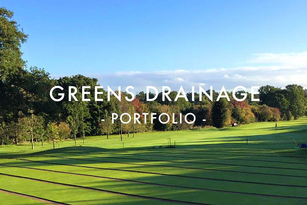 Greens Drainage Portfolio