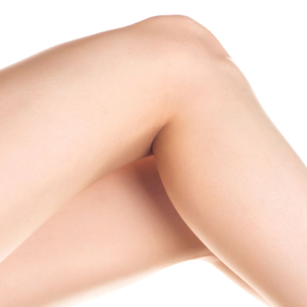 A photograph of smooth,hair-free legs.