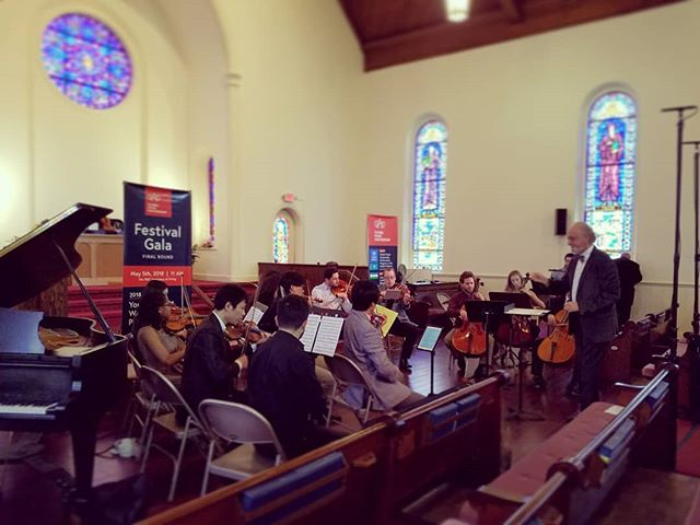 Looking forward to a fantastic day full of performances by young talents with the Global Music Partnership Festival Gala. Photo here from the GMP Chamber Orchestra rehearsal.