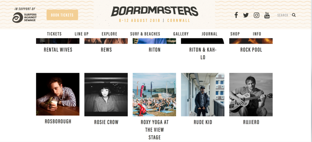 2018 has been a good year. Very Proud to have been asked to perform again for The BOARDMASTERS SURF AND MUSIC FESTIVAL. Having two slots this year, on the opening night at the  Net Loft Stage (in association with BBC Introducing Cornwall)  performing an intimate acoustic session and, on the following day I opened the music to be the first to play on the  Fistral Beach day Sessions  where the surf Action and competitions happens. Its a truly fantastic festival in a legendary location and I recommend it to anyone who loves the Ocean Vibes.  https://www.boardmasters.com/lineup