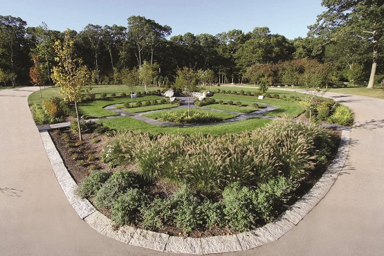 The new cremation garden.  (Photo posted by WPRI, from Swan Point Cemetery)