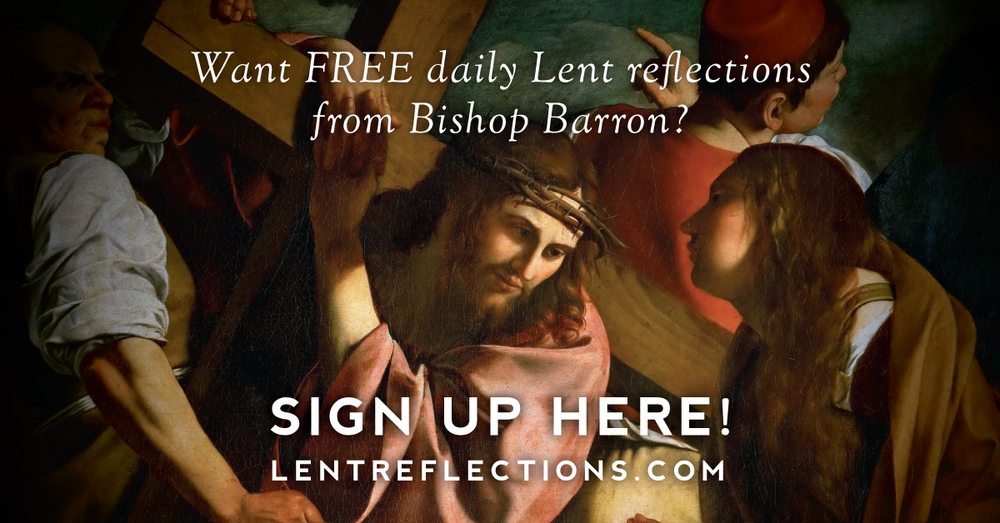 Click on the picture to get your daily Lenten Meditations from Bishop Barron.
