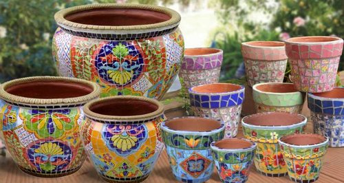 Collection maxcera mosaics mosaic flower pots workwithnaturefo