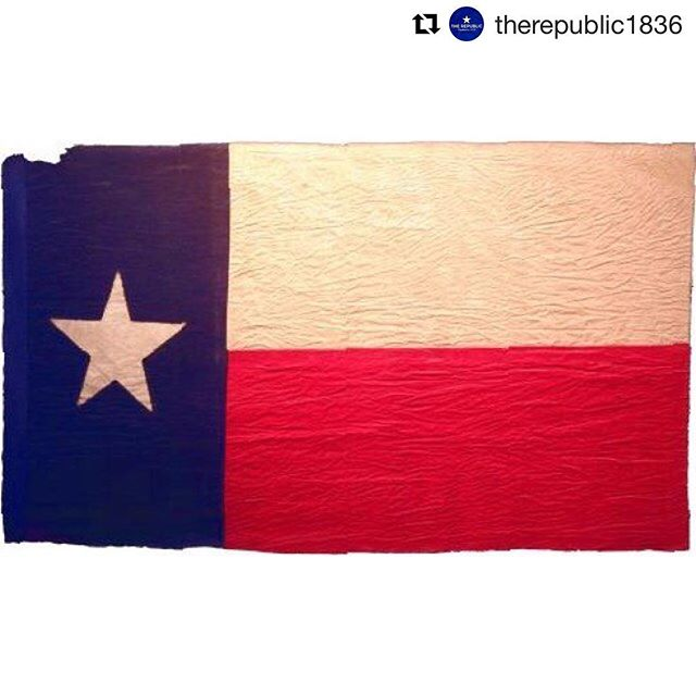 """#flashbackfriday  The Third Flag of #TheRepublicOfTexas.  Check out @samhoustonmemorialmuseum and their website. They got some great historical artifacts and the stories behind them like this one on the best flag in the history of nations: """"A month after Santa Anna was defeated, the Mexican government repudiated the treaties he had signed and refused to recognize the independent sovereignty of Texas. Their threats of an invasion made a strong defense a continuing concern for the Texas army. On one foray in the spring of 1842, San Antonio and Victoria were taken and held for several days by Mexican forces.  Even so, the new republic flourished and, in keeping with the rising prominence of Texas, a more distinctive national flag was sought. Meeting in the village of Houston in 1839, the Third Congress of the Republic of Texas approved a new design by Charles Stewart, the second man to sign the Declaration of Independence.  The strong growth continued; France officially recognized Texas in February of 1840 and opened a legation in Austin; England followed in 1842. However, annexation by the United States was still an important issue. It was hotly debated in several countries, including Texas, and was the deciding issue in the American presidential election of 1844. The vast majority of Texans, being Americans by birth, were in favor of the plan and the issue was settled the next year. On December 29th, Texas was admitted to the United States and the flag of the Republic of Texas became the state flag. Three months later the United States declared war on Mexico."""""""