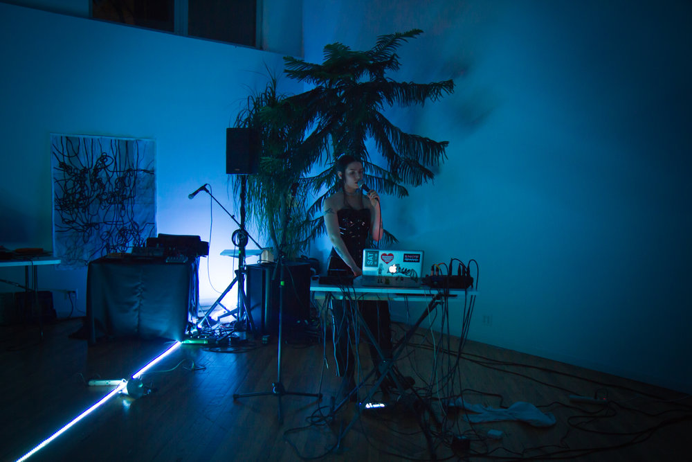 Kayla Guthrie at Outpost Artist Resources, March 10, 2018. Photo by Wolfgang Daniel.