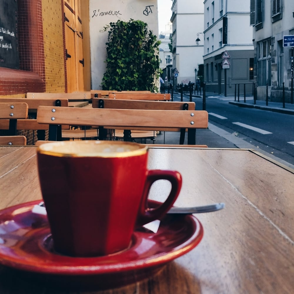 Cafe noisette from my inspirational trip to Paris this past fall.  L'amour!  Click it to check out & follow me on Instagram