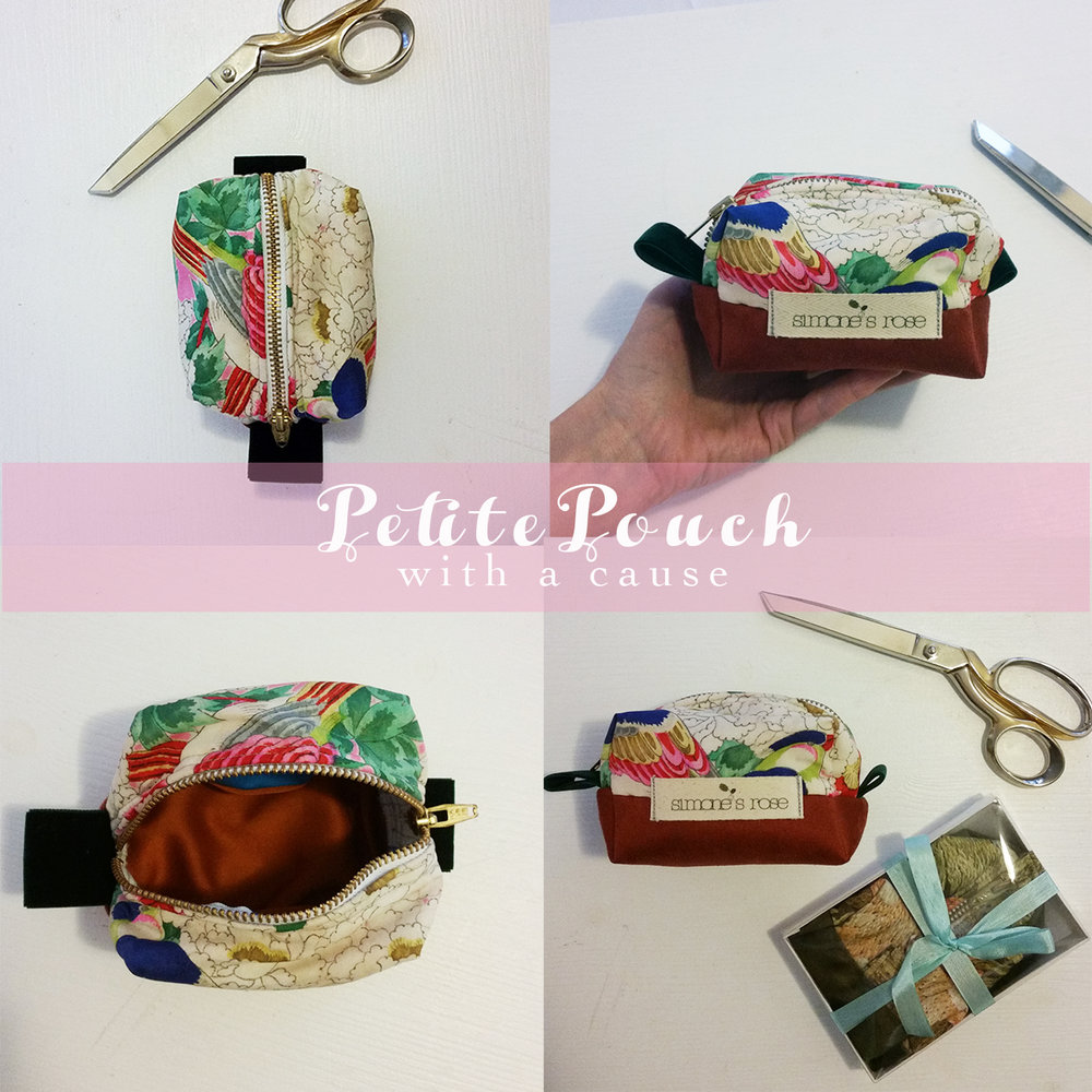 Introducing... Petite Pouches - with a cause!