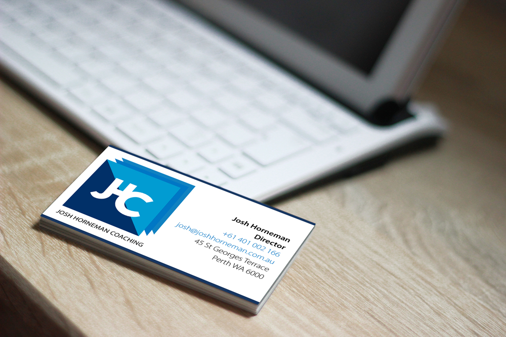 Josh Horneman Coaching Business cards by Enovate Marketing.jpg