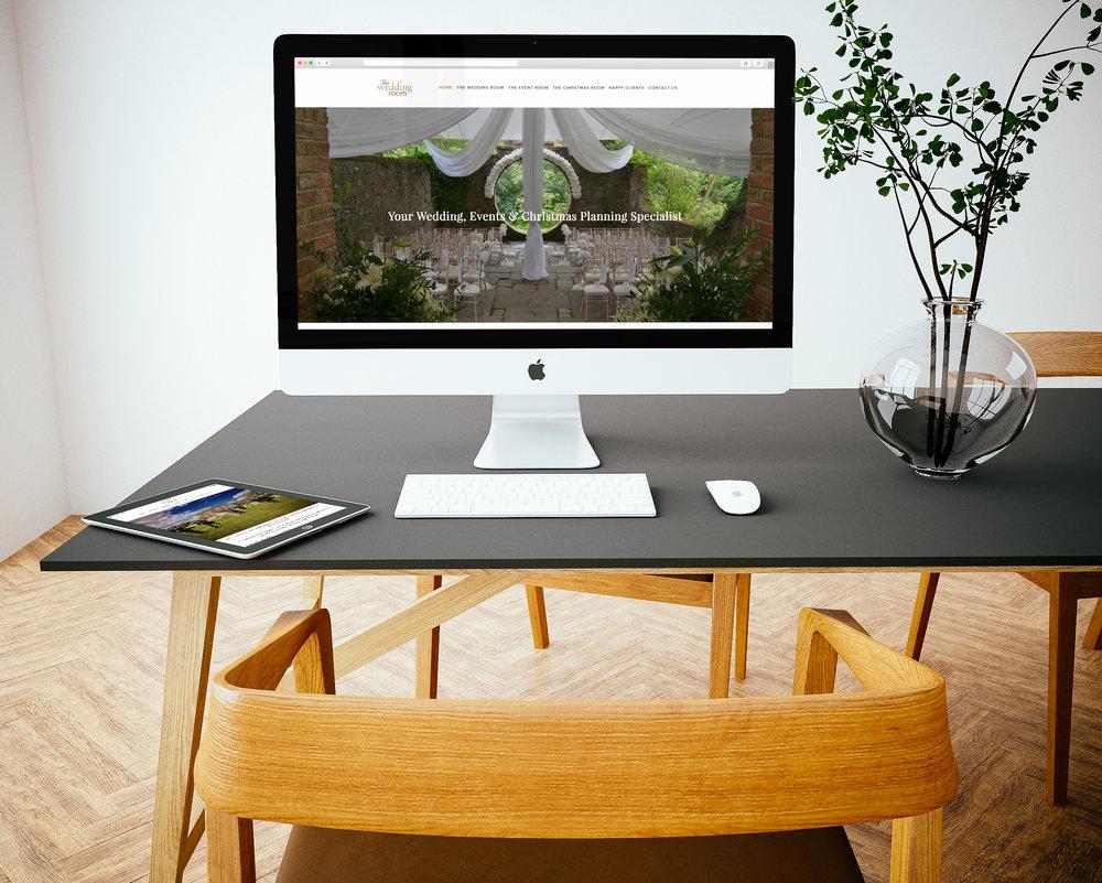 The WEdding Room website design by Enovate Marketing IMac.jpg