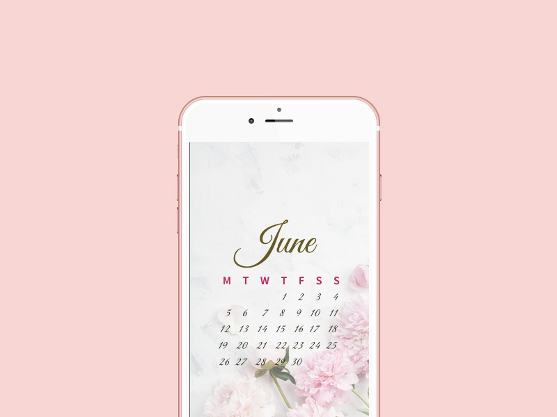 Download your  iPhone  wallpaper calendar