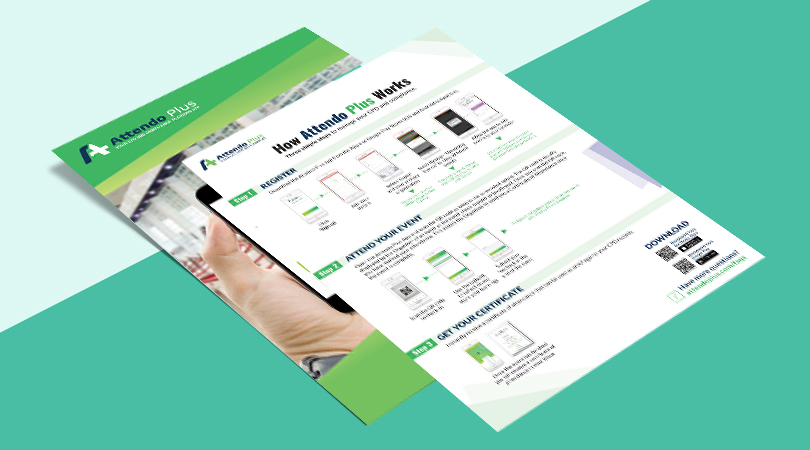 Design Mobile App Quick User Guide - A4 flyer double-sided (print and interactive)