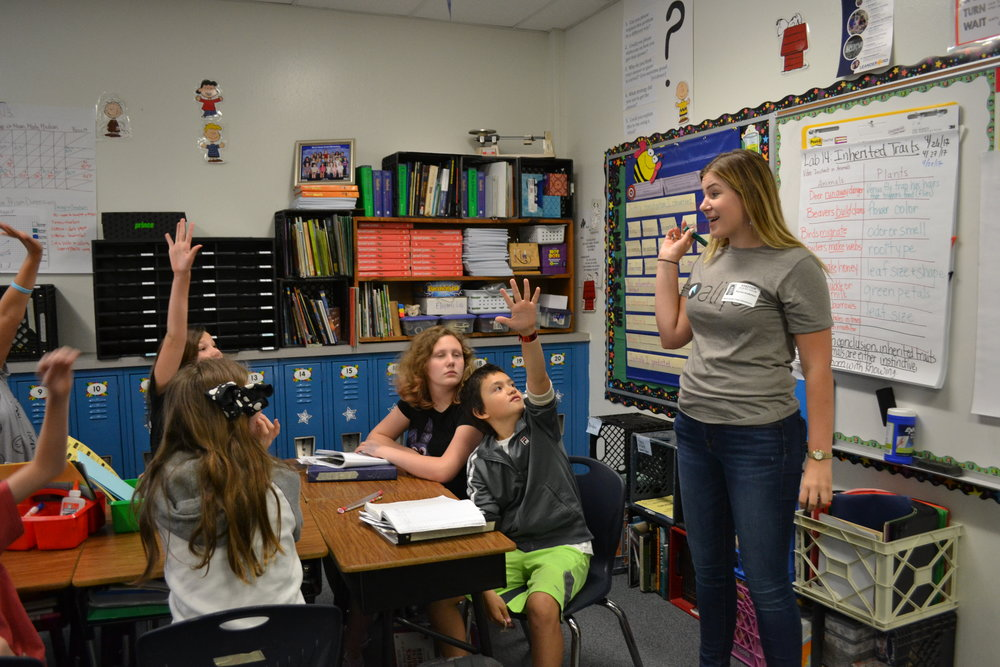 Rachel teaches elementary school students.