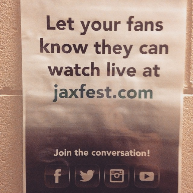 Check us out online tonight from Jacksonville Florida. We are on around 640. Www.JaxFest.com