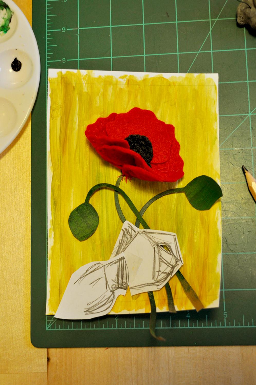 felt and paper art gracie klumpp