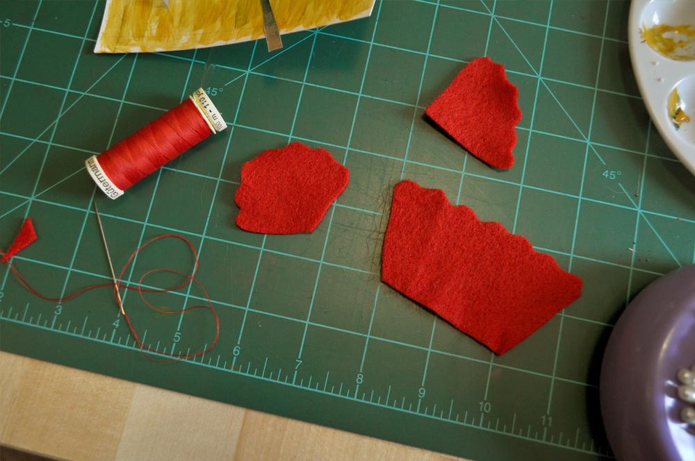 felt flower craft process
