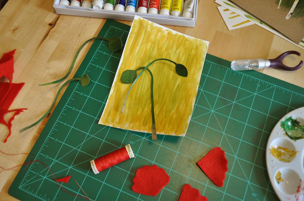 paper shadowbox art process