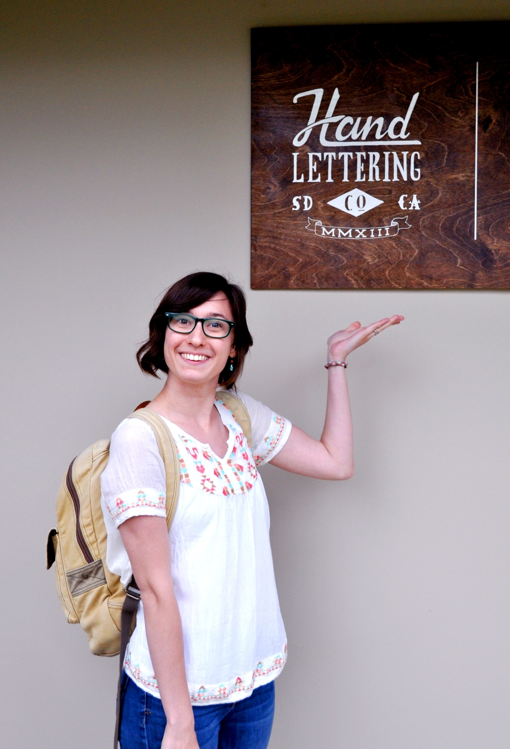 The HandLettering Co. studio sign!