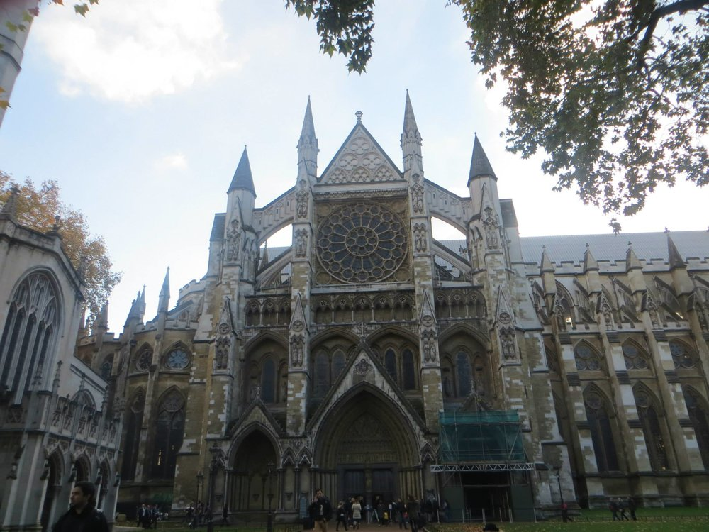 The exterior of the incredible Westminster Abbey